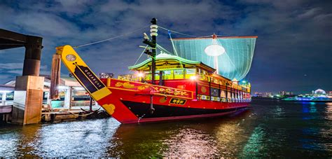boat show japan tokyo bay dinner cruise with oiran show beauty of