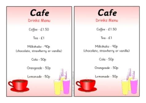 cafe roleplay resources amp printables for early years