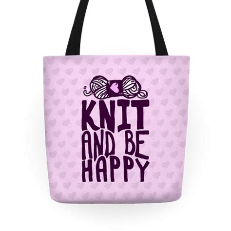 Be Happy Totebag knit and be happy tote bag lookhuman
