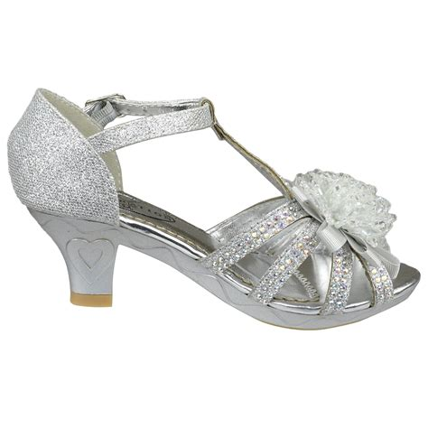 silver dress shoes s t ribbon beaded rhinestone glitter heel dress