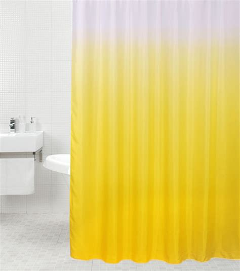Yellow Shower Hooks by High Quality Polyester Shower Curtain Anti Mould With