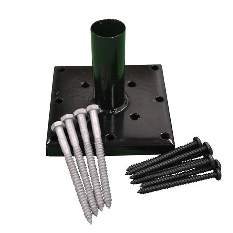 Pylex Adjustable Powder Coated Deck Support For 4x4 Post