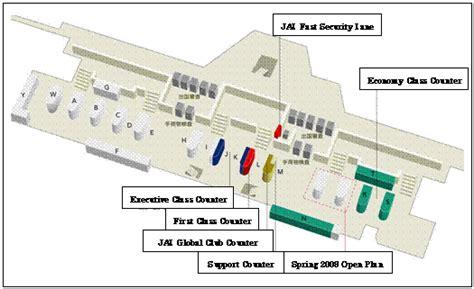 narita airport floor plan jal brings universal design to its narita airport remodel
