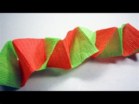 como hacer cadenas de papel crepe de tres colores como hacer cadenas con papel crepe funnycat tv