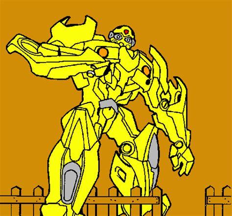 dibujos para colorear de transformers 3 az dibujos para colorear dibujo de transformer pintado por bumblebee en dibujos net