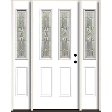 Shop Reliabilt Lite Patterned Glass Shop Reliabilt Laurel Half Lite Decorative Glass Left Inswing Modern White Painted
