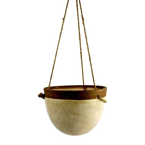 Pottery Hanging Planter by Hanging Ceramic Planter Terrain