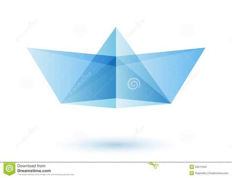 origami boat logo paper boat logo design idea stock vector image 53271943