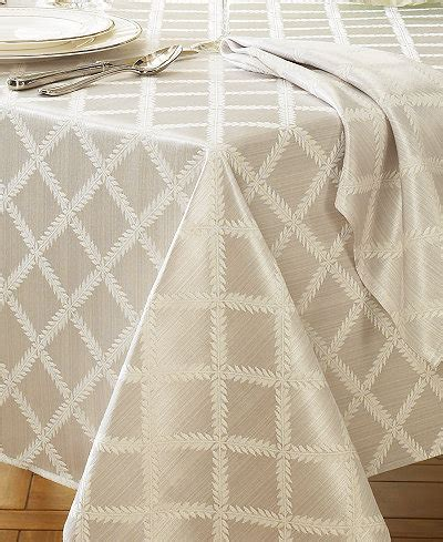 lenox laurel leaf 70 quot x 144 quot tablecloth table linens
