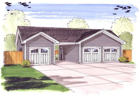 plus carport 3 car garage plus carport 62479dj cad available pdf