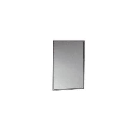 bobrick b 165 2436 channel frame mirror 24 quot x 36 quot bobrick b 165 2436 stainless steel b 165 channel framed 24