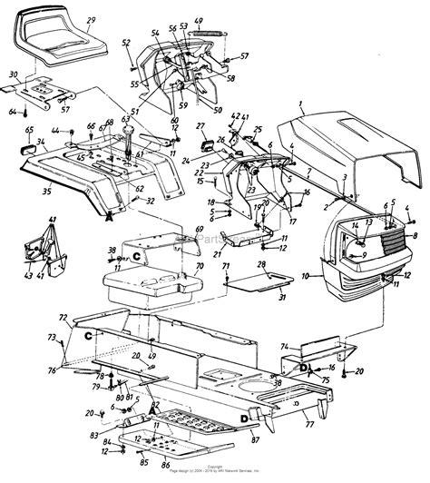 cub cadet lawn mower parts diagrams mtd mtd mdl 130 800h129 485 268 parts diagram for parts