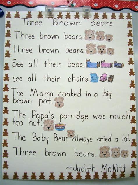 three songs three brown the three bears activities bears for the classroom bears songs