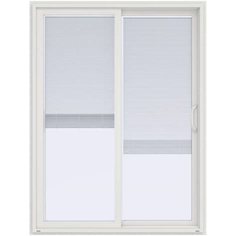 60 x 80 sliding patio door with blinds jeld wen 60 in x 80 in v 4500 white prehung right