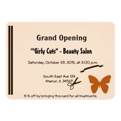 are you opening a new salon or giving your salon design a beauty salon grand opening invitations announcements