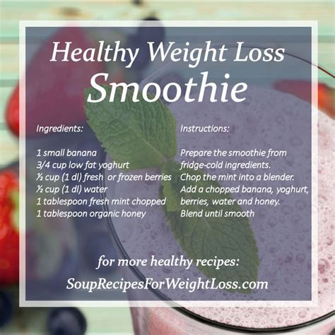 weight loss recipes best weight loss smoothie recipes