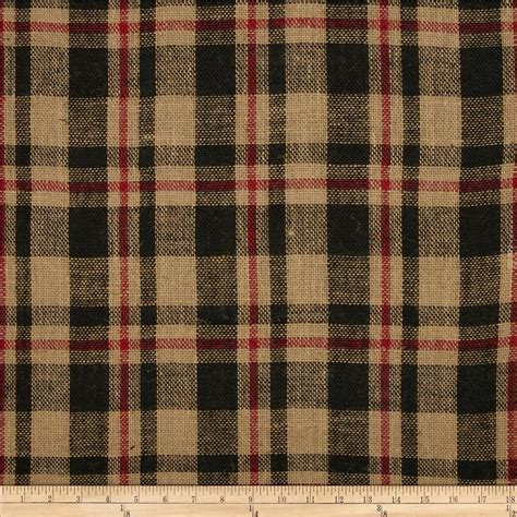 red and black fabric for curtains 60 quot sultana burlap plaid red black discount designer