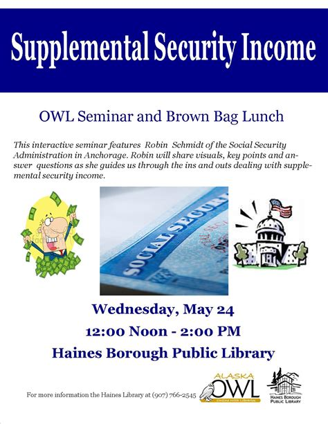 supplemental security income owl seminar supplemental security income haines borough