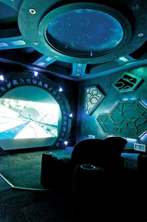 stargate atlantis home theater  cool themed home