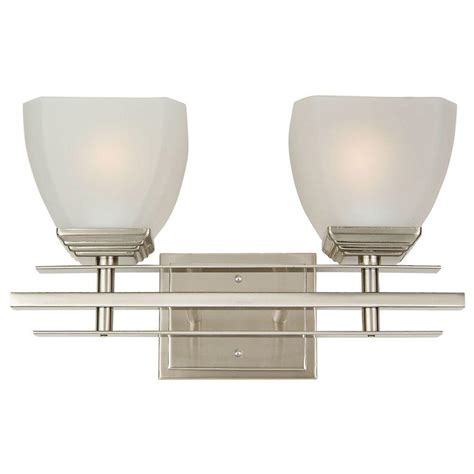 home depot vanity lights for bathroom yosemite home decor half dome 2 light satin nickel