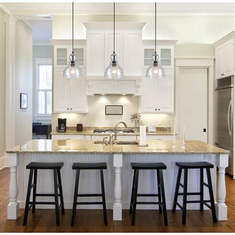glass pendant lighting for kitchen islands awesome pendant lighting over kitchen island also mini