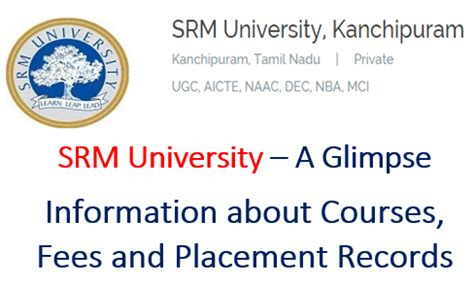 Srm Mba Courses by Review On Srm Courses Technokarak