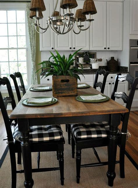 farmhouse dining room chair cushions tabulous design glorious in gingham or buffalo check