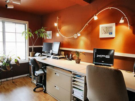 awesome home office red walls and dramatic lighting an inexpensive office