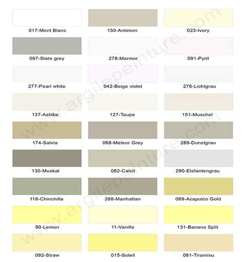 Couleurs De Peintures by Couleurs Peinture Argile Et Laque Satin 233 E 165 Teintes 100