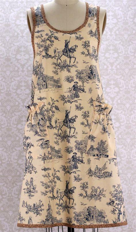 apron pattern no tie the vermont apron company no tie apron in blue toile