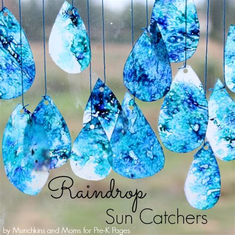 water themed crafts for raindrop suncatchers pre k pages