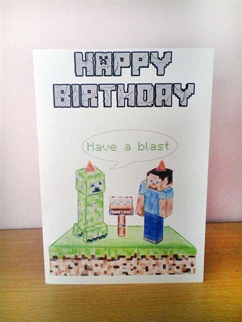 how to make a minecraft birthday card birthday card minecraft by setaspark on
