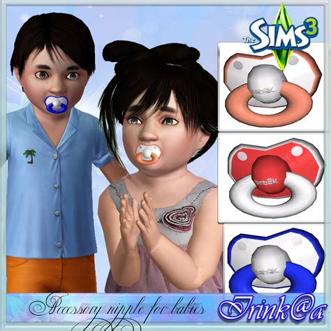 sims 4 baby custom content pacifier custom content caboodle