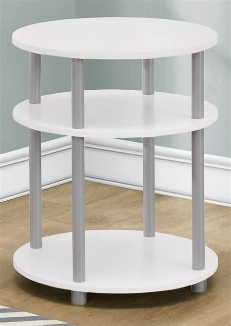 White Round Accent Table | white round accent table 3132 monarch
