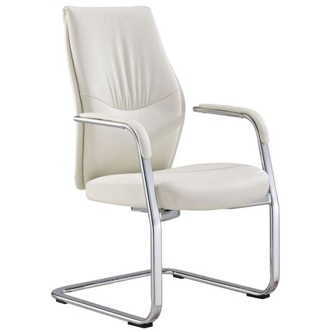 Franklin Chair by Franklin Leather And Chrome Side Chair With Aluminum Base