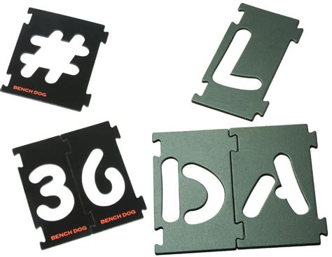 Router Lettering Templates by Benchdog Interlocking Signmaking Templates Letters