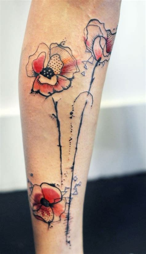 watercolour tattoo fail watercolor poppies by kdeggleston this with golden poppy