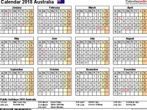 2018 acid calendar year in a box australia calendar 2018 free printable excel templates
