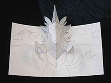 unicorn pop up card template welcome to robertsabuda