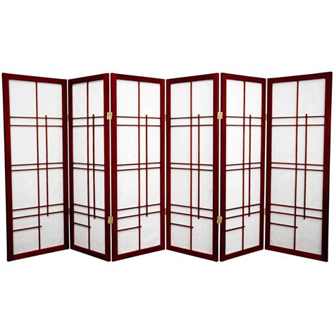 6 panel room divider 4 ft rosewood 6 panel room divider cleudes rwd 6p the