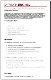 sales cv template uk cv template uk retail