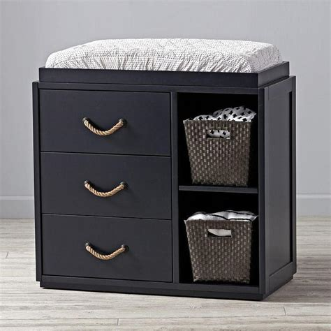 black changing tables ultimate changing table pottery barn