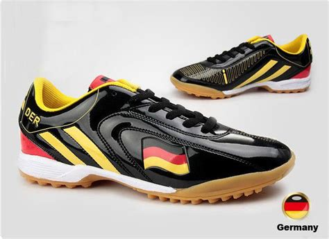 football running shoes germany flag soccer shoes black sports shoes