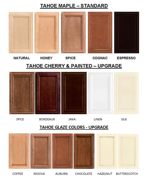 color kitchen cabinets tahoe cabinet colors tahoe maple cabinet colors are the