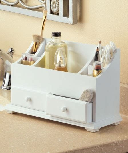 white cosmetic bathroom vanity wooden organizer ebay