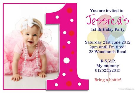 birthday invitation card sle free 1st birthday invitation cards templates free