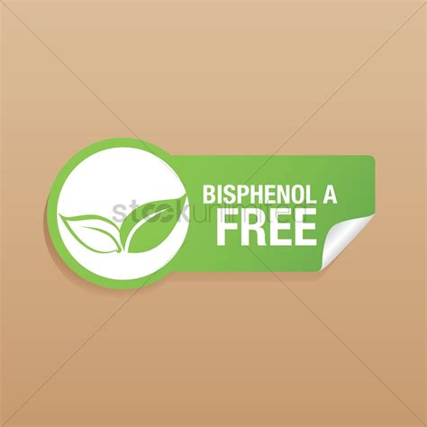 Bpa Free bpa free product label design vector image 1476659