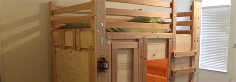 How To Make A Bed Fort by Bunk Bed Plans Bed Fort Plans Loft Bed Plans