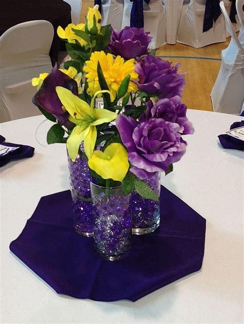 Best Ideas About Yellow Centerpieces Wedding Centerpieces Purple And Yellow Wedding Centerpieces