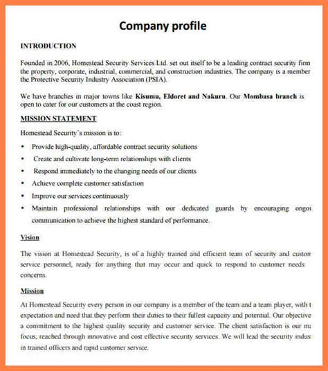 security company profile template 4 how to write a company profile sle company letterhead
